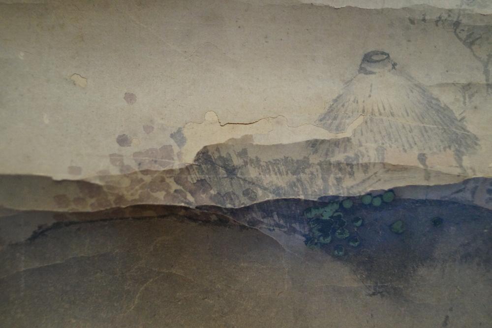 Berglandschaft - Japanisches Rollgemälde (Kakejiku)