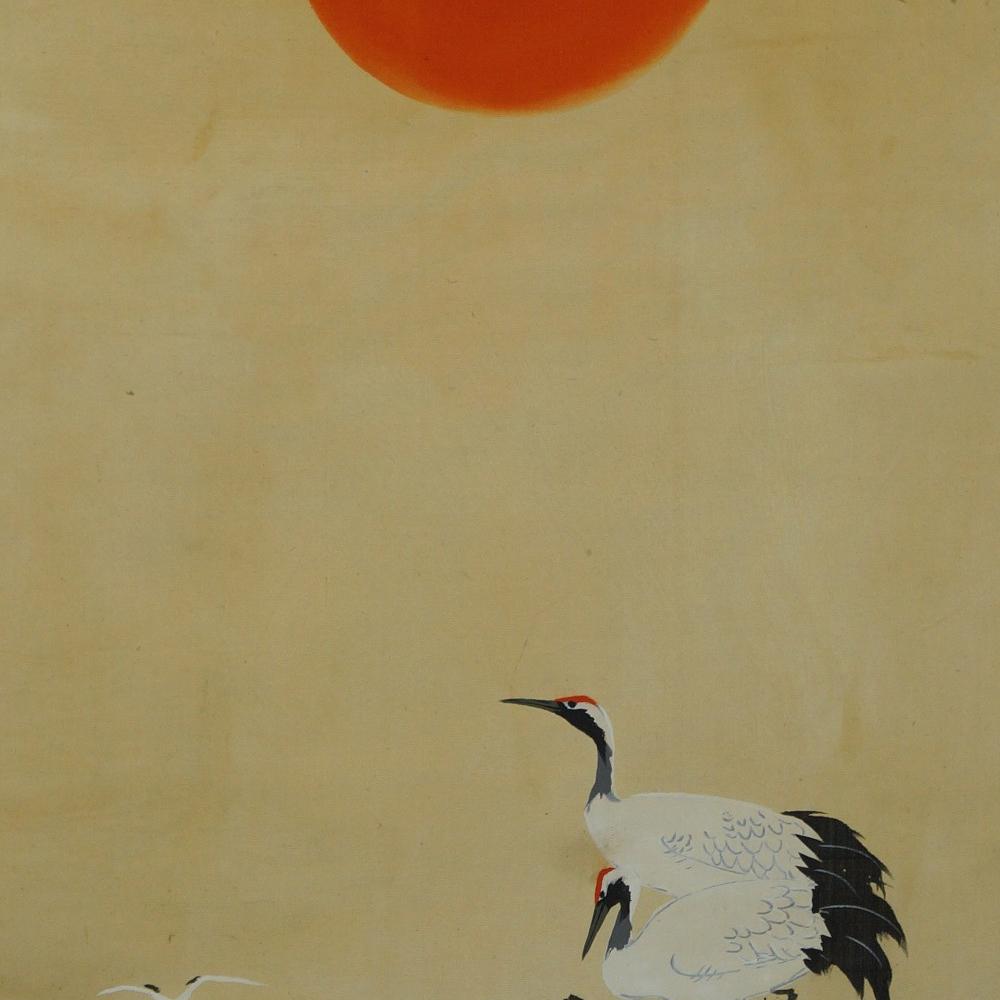 Kraniche - Japanisches Rollbild (Kakejiku, Kakemono)