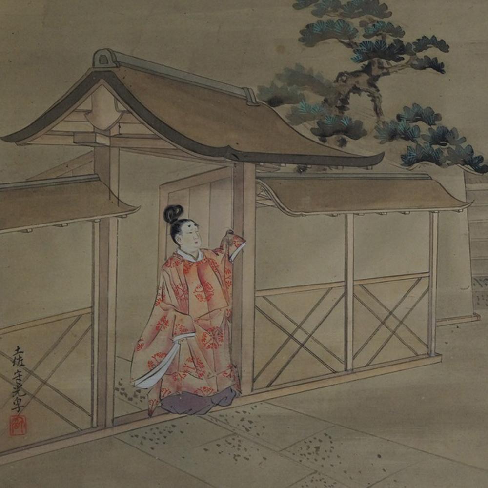 Der Abschied - Japanisches Rollgemälde (Kakejiku)