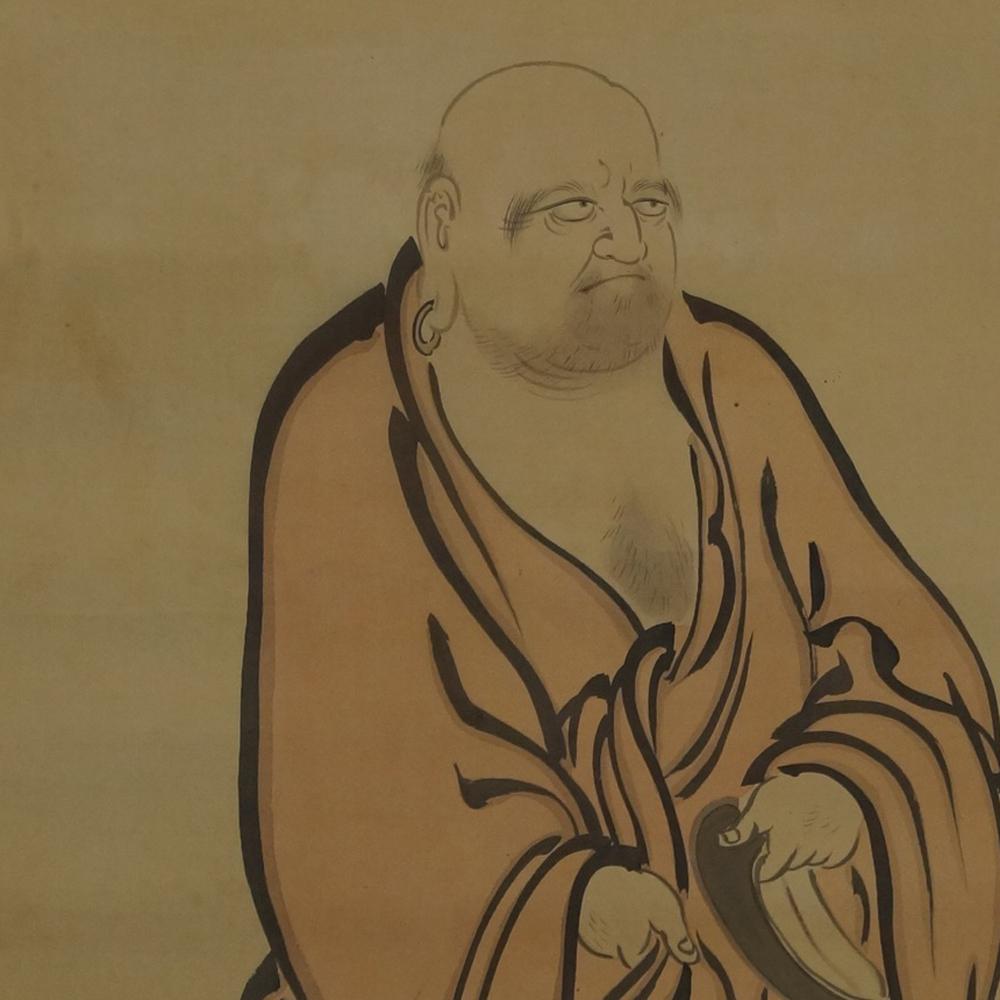 Bodhidharma - Japanisches Rollgemälde (Kakejiku)