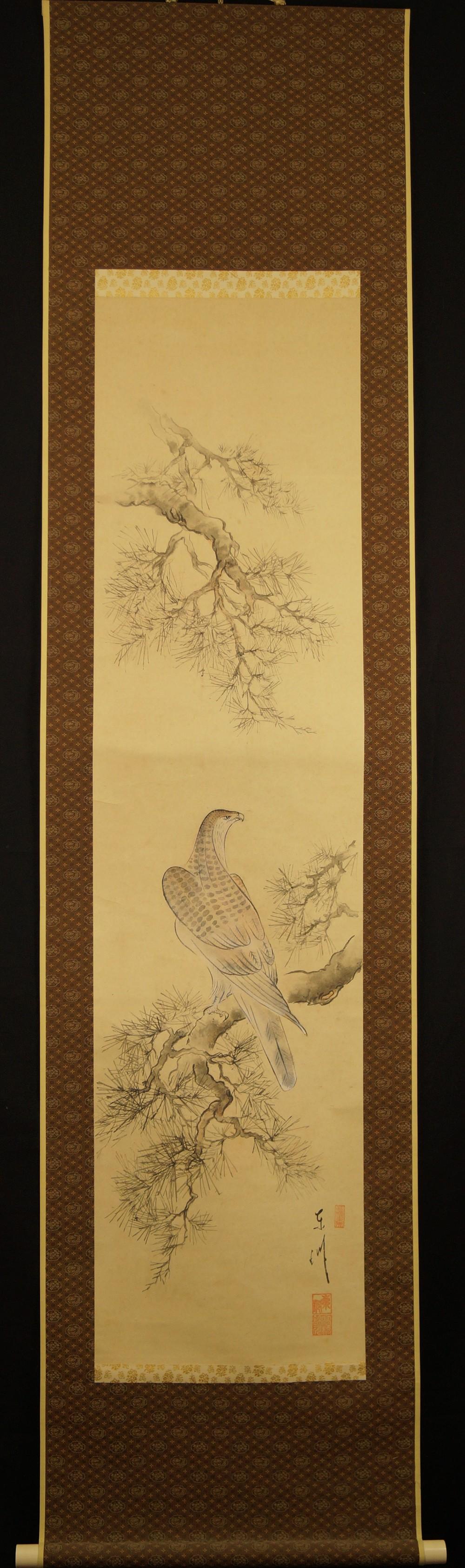 Falke - Japanisches Rollbild (Kakejiku, Kakemono)