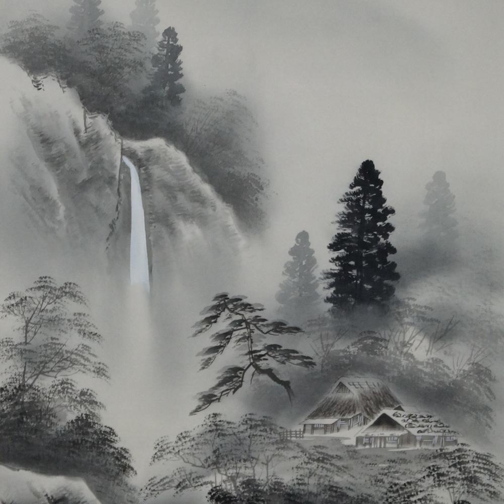 Nebellandschaft - Japanisches Rollgemälde (Kakejiku)