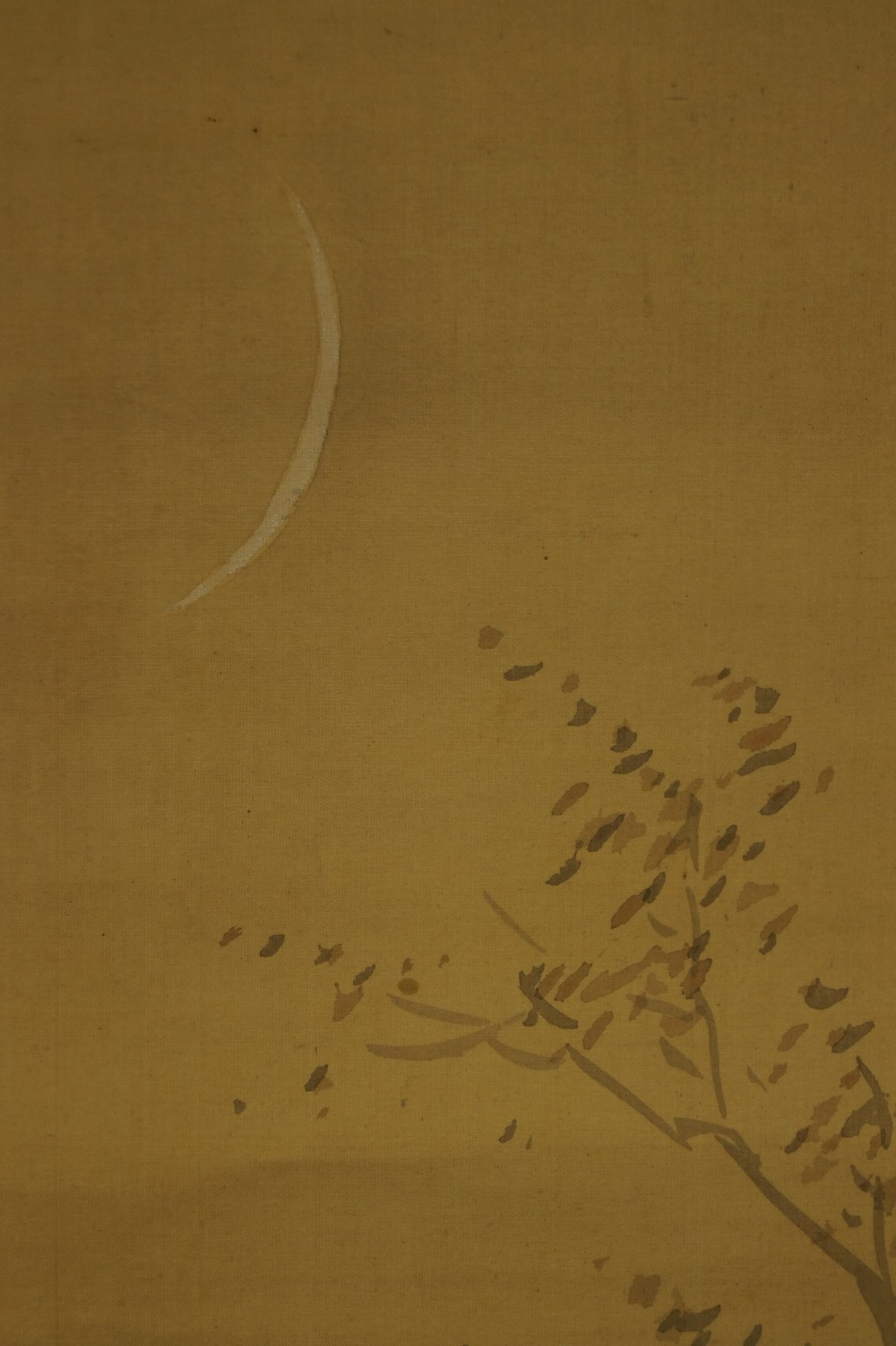 Herbstnacht im Wald - Japanisches Rollbild (Kakejiku, Kakemono)
