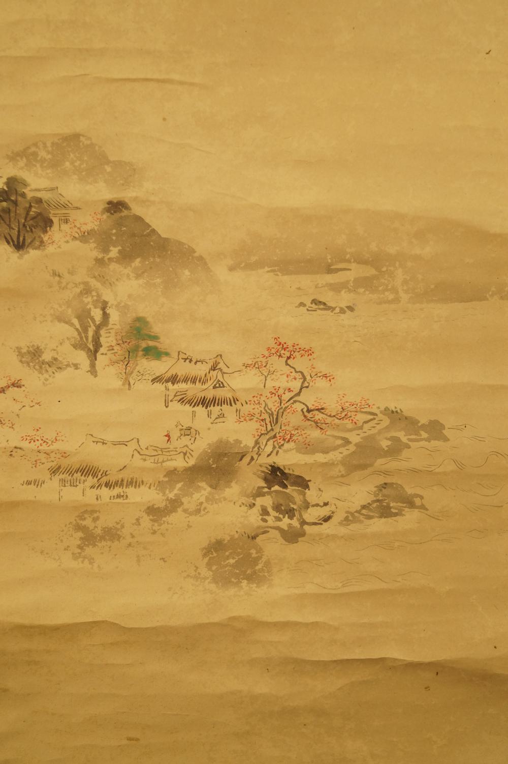 Fuji-san im Sommer und Herbst - 2er Set japanische Rollgemälde (Kakejiku, Kakemono)