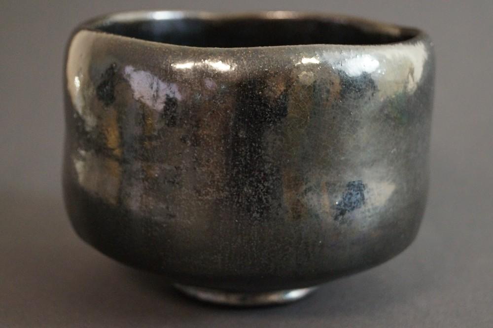Handgetöpferte japanische Teeschale (Chawan) Raku Keramik von Kentaro Furumaru
