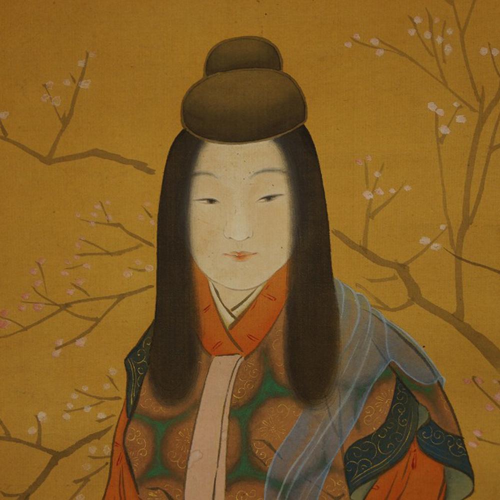 Schönheit im Kimono - Japanisches Rollbild (Kakejiku, Kakemono)