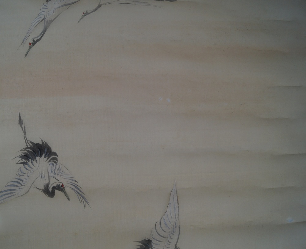 Kraniche - Japanisches Rollbild (Kakejiku)