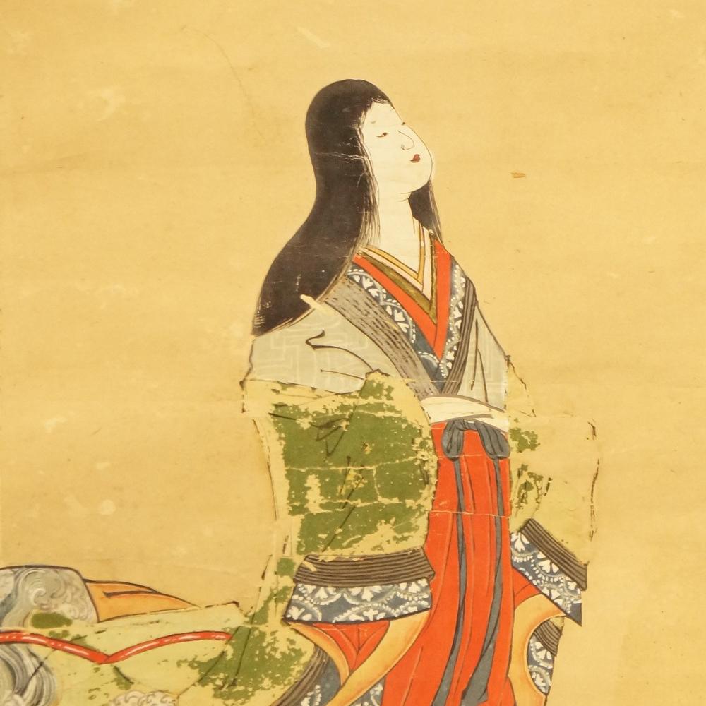 Schönheit - japanisches Rollgemälde (Kakejiku, Kakemono)