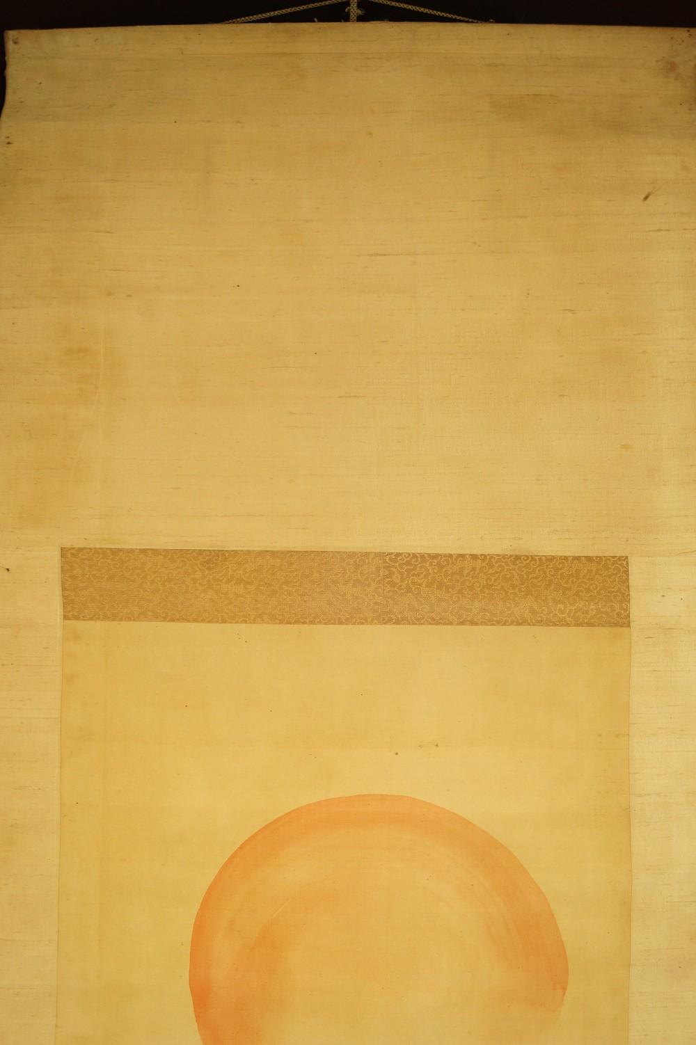 Aufgehende Sonne, brechende Welle - japanisches Rollgemlde (Kakejiku, Kakemono) Ogata Gekkô