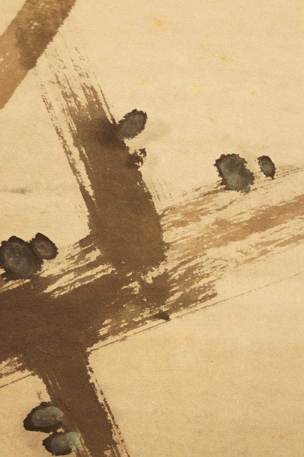 Eisvogel auf einem Zweig - japanisches Rollgemälde (Kakejiku, Kakemono)