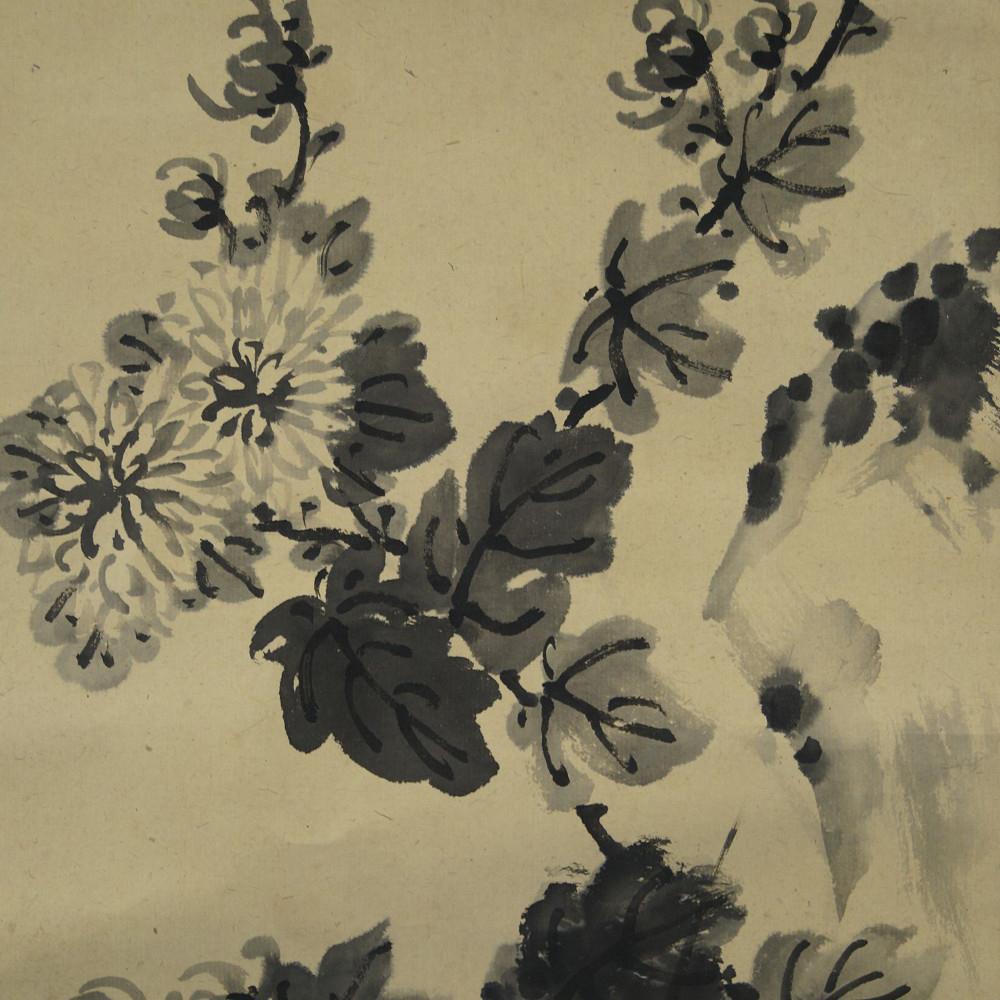Chrysantheme - Japanisches Rollbild (Kakejiku, Kakemono)