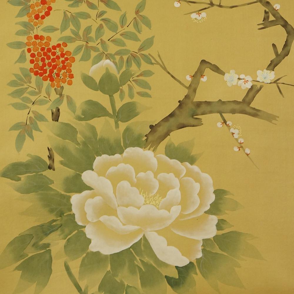 Blumen - Japanisches Rollbild (Kakejiku, Kakemono)