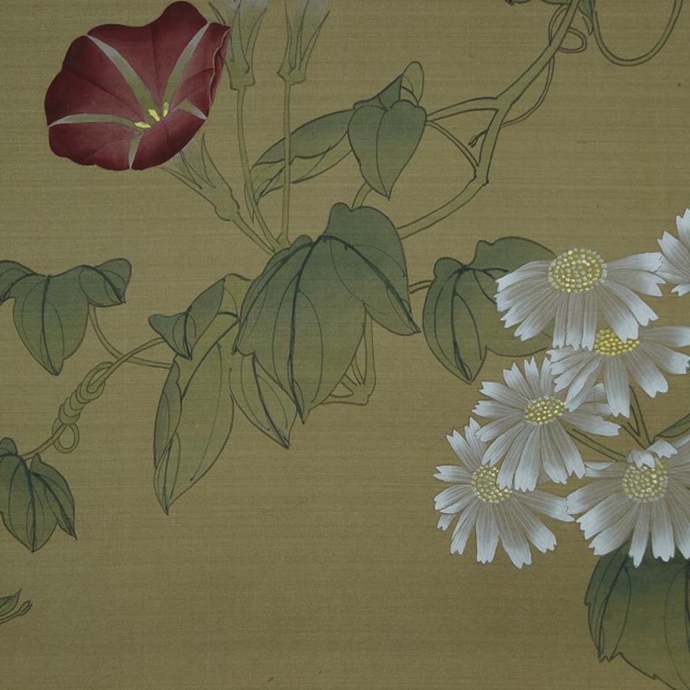 Blumen und Schmetterling - Japanisches Rollbild (Kakejiku, Kakemono)