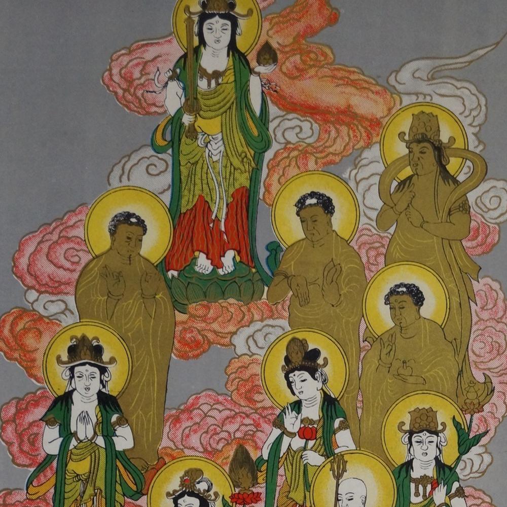 Die 13 Buddhas - Japanisches Rollgemälde (Kakejiku)