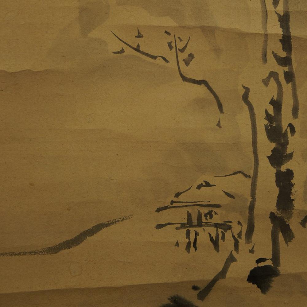 Schneelandschaft - Japanisches Rollbild (Kakejiku, Kakemono)