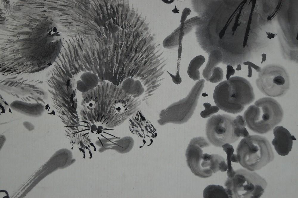 Eichhörnchen - Japanisches Rollbild (Kakejiku, Kakemono)