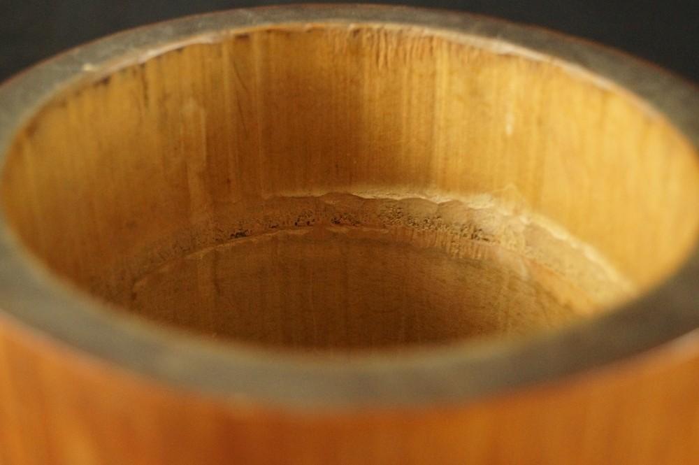 Drache - japanische handgeschnitzte Vase aus Bambus
