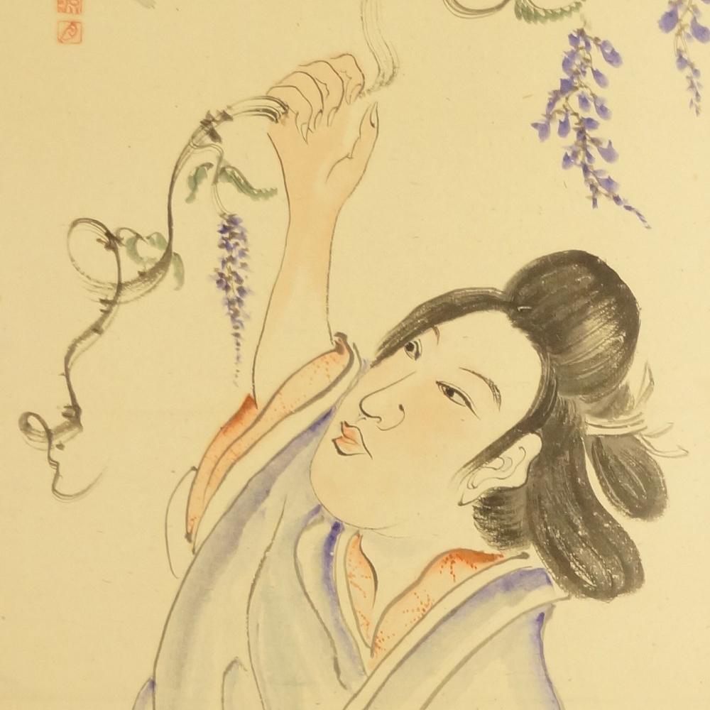 Schönheit - Japanisches Rollbild (Kakejiku, Kakemono)