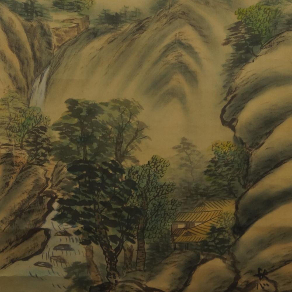 Landschaft - Japanisches Rollbild (Kakejiku, Kakemono)