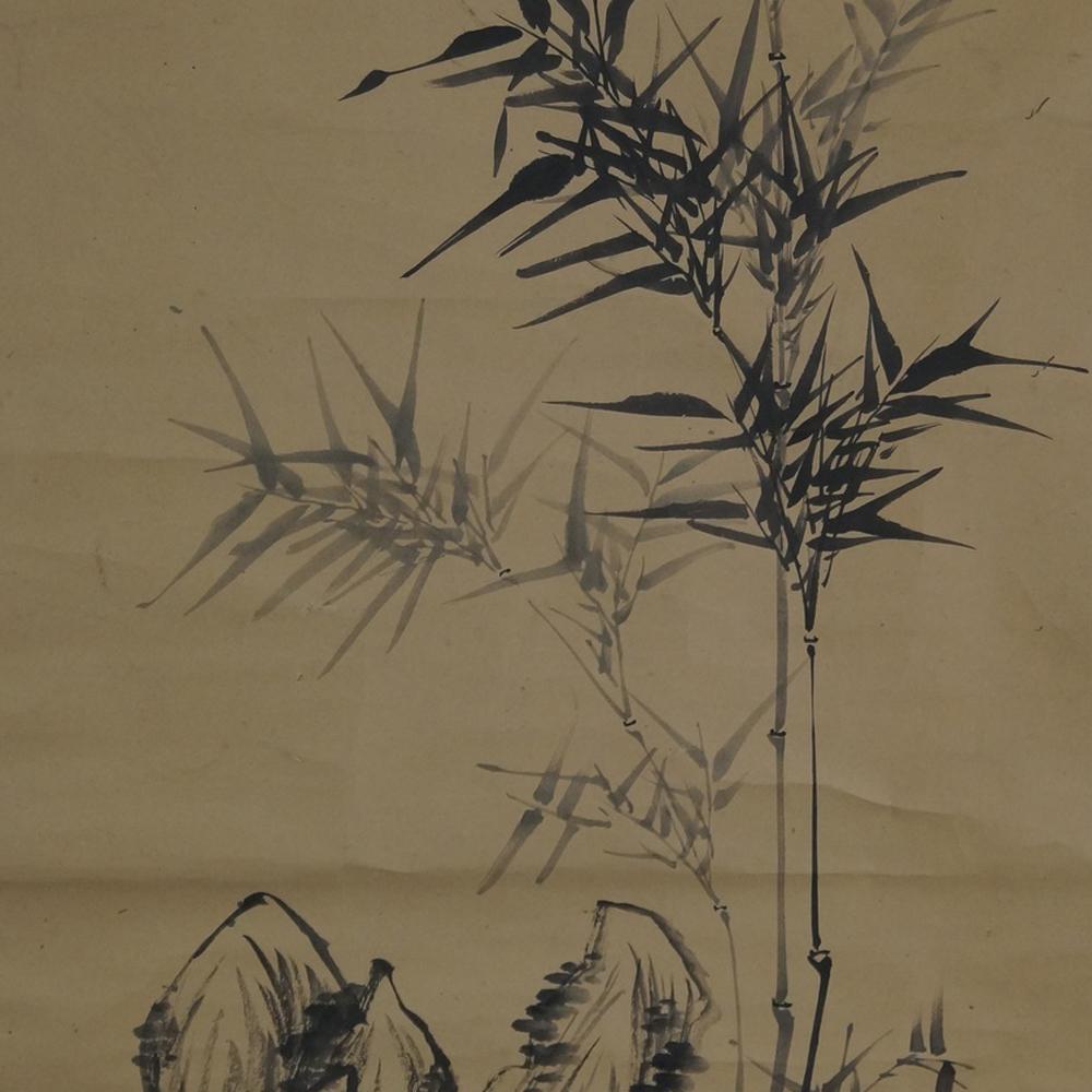 Bambus - Japanisches Rollgemälde (Kakejiku)