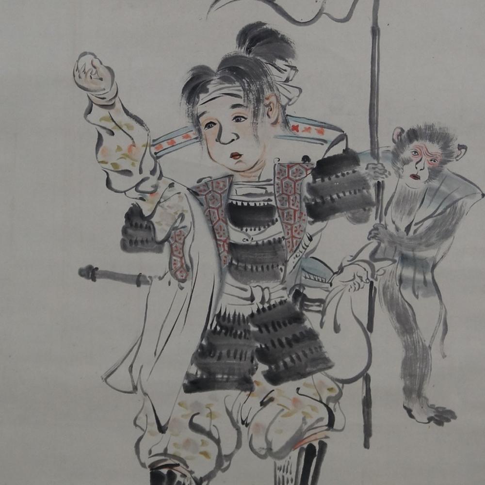 Junger Samurai - Japanisches Rollgemälde (Kakejiku)