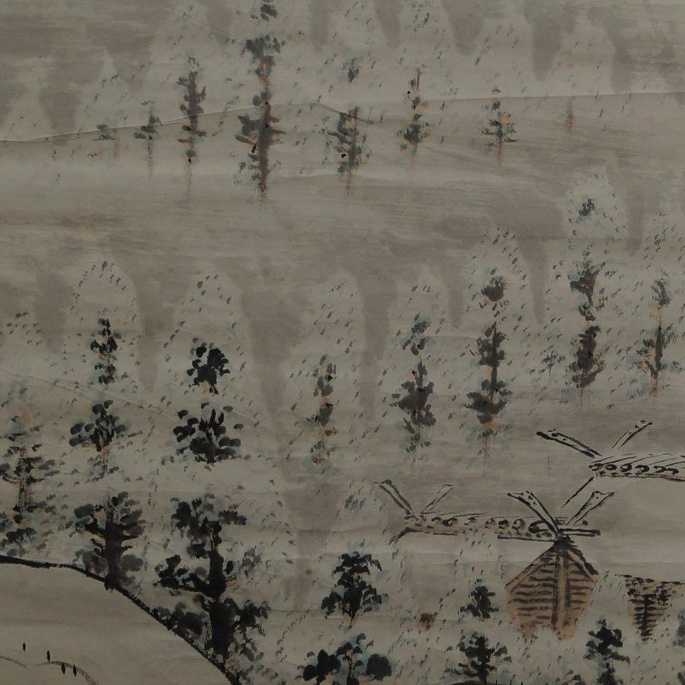 Winterlandschaft - Japanisches Rollgemälde (Kakejiku)