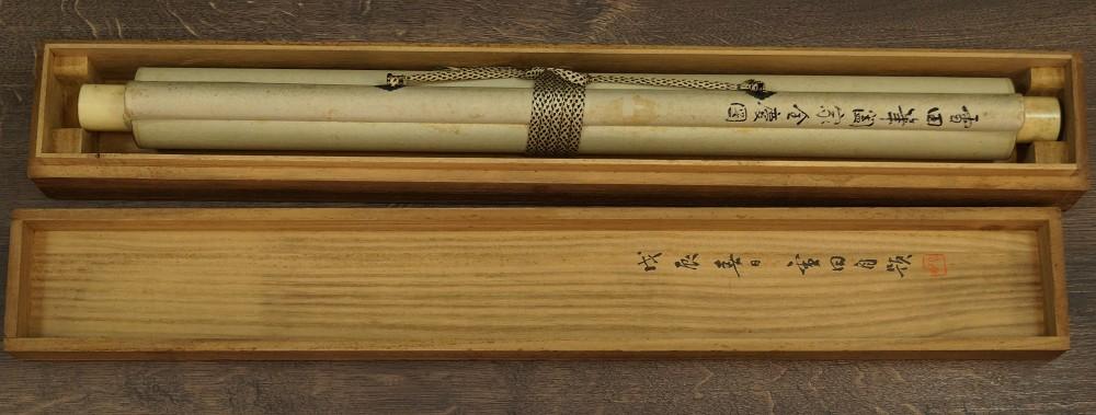 Hahn und Henne - Japanisches Rollbild (Kakejiku, Kakemono)