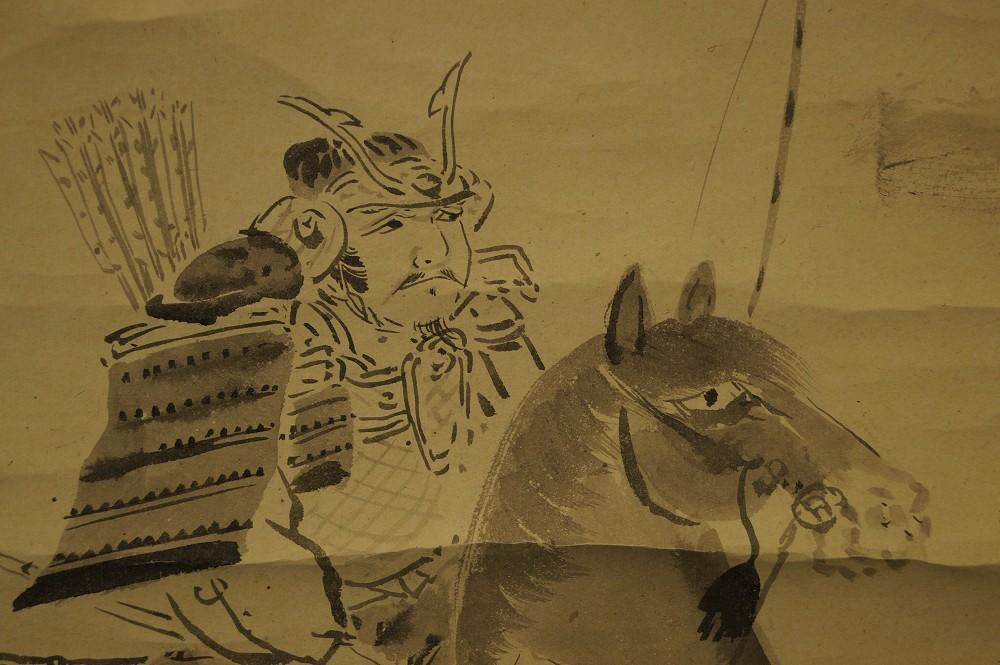 Der Samuraikrieger - Japanisches Rollbild (Kakejiku, Kakemono)