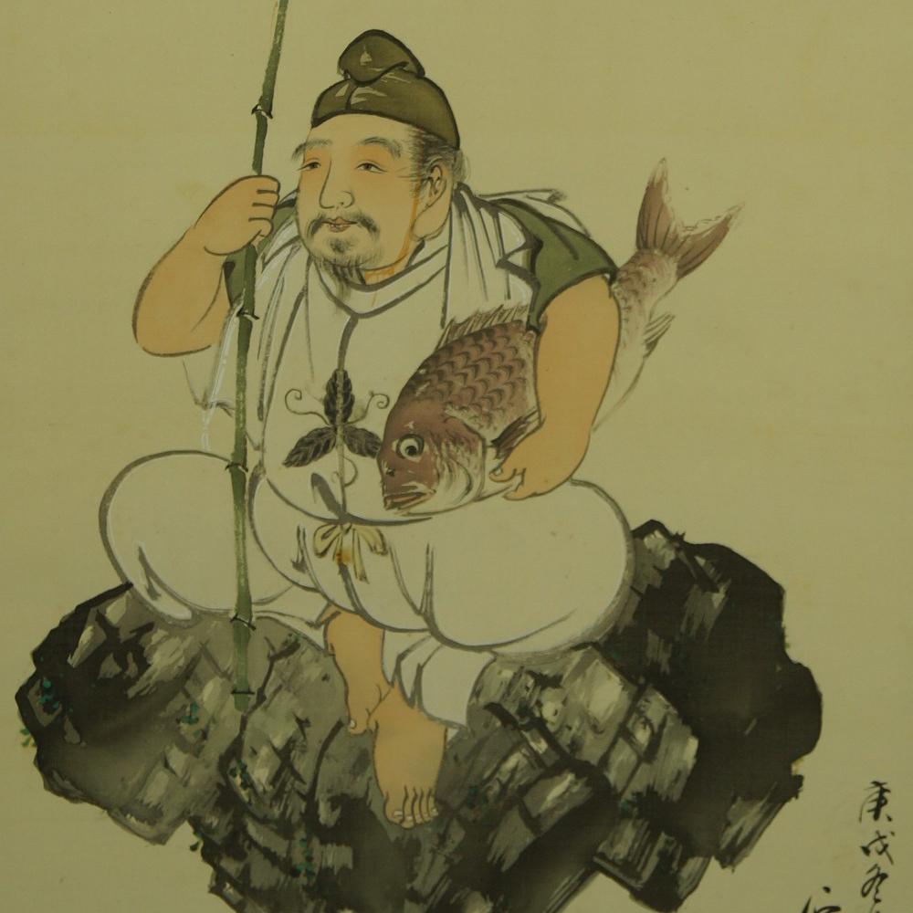 Fischer - Japanisches Rollbild (Kakejiku, Kakemono)