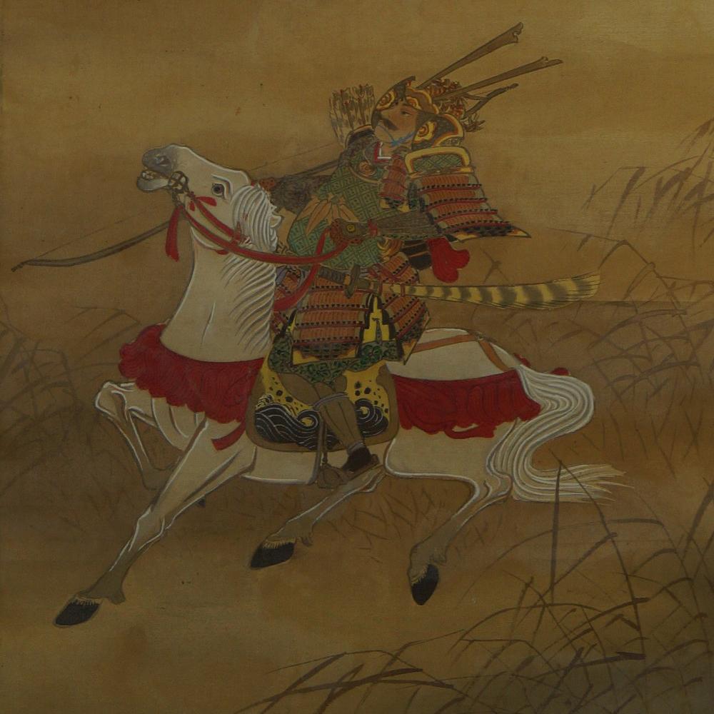Der Samurai - Japanisches Rollbild (Kakejiku, Kakemono)