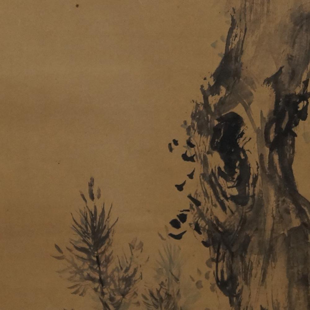 Die alte Kiefer - Japanisches Rollgemälde (Kakejiku)