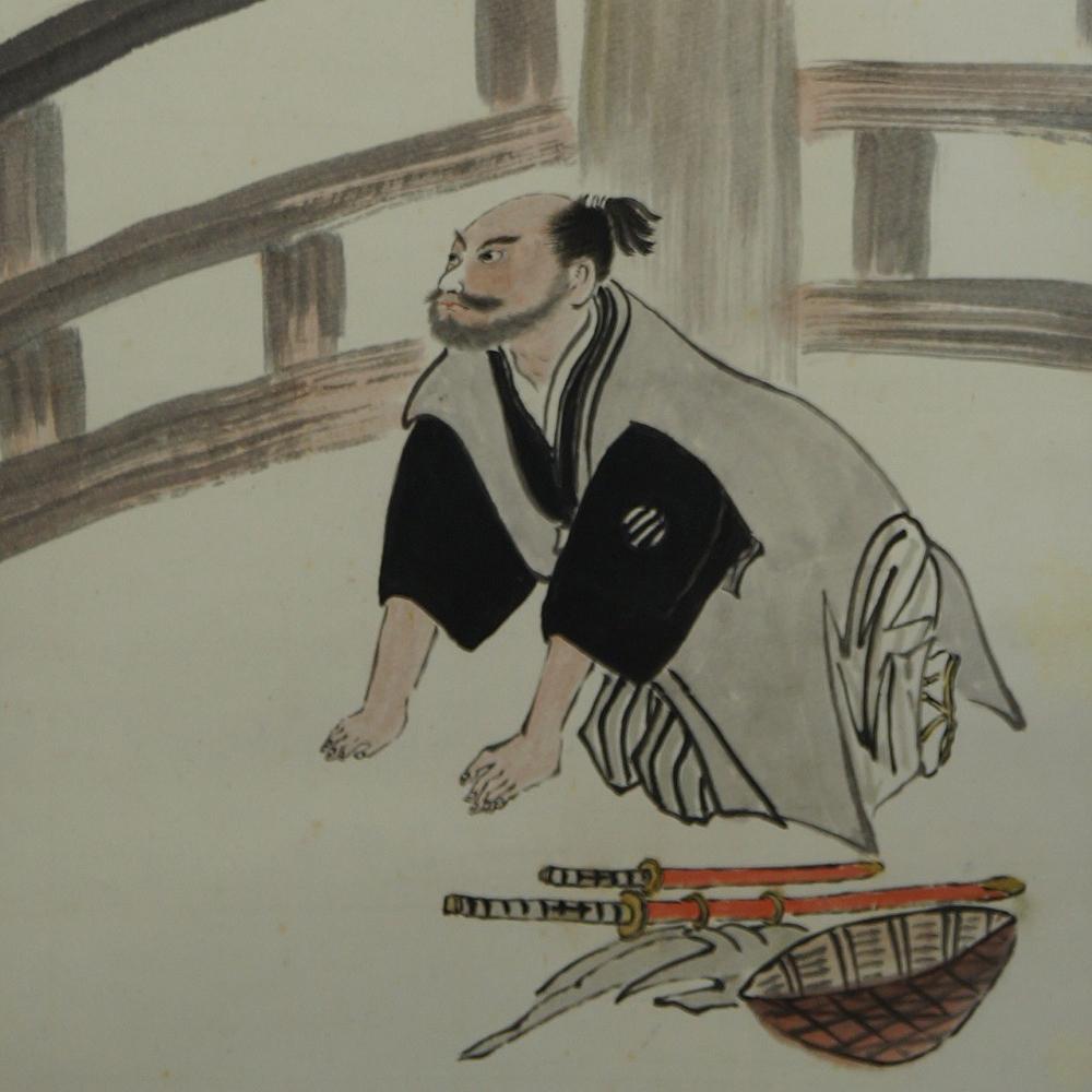 Samurai - Japanisches Rollbild (Kakejiku, Kakemono)