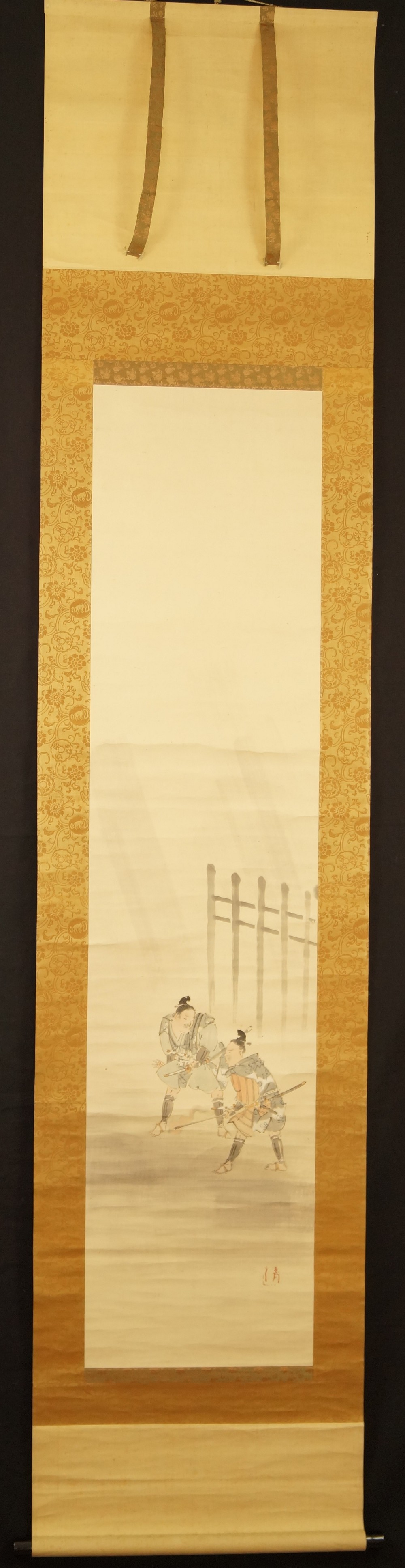 Soga Brüder - Japanisches Rollbild (Kakejiku, Kakemono)