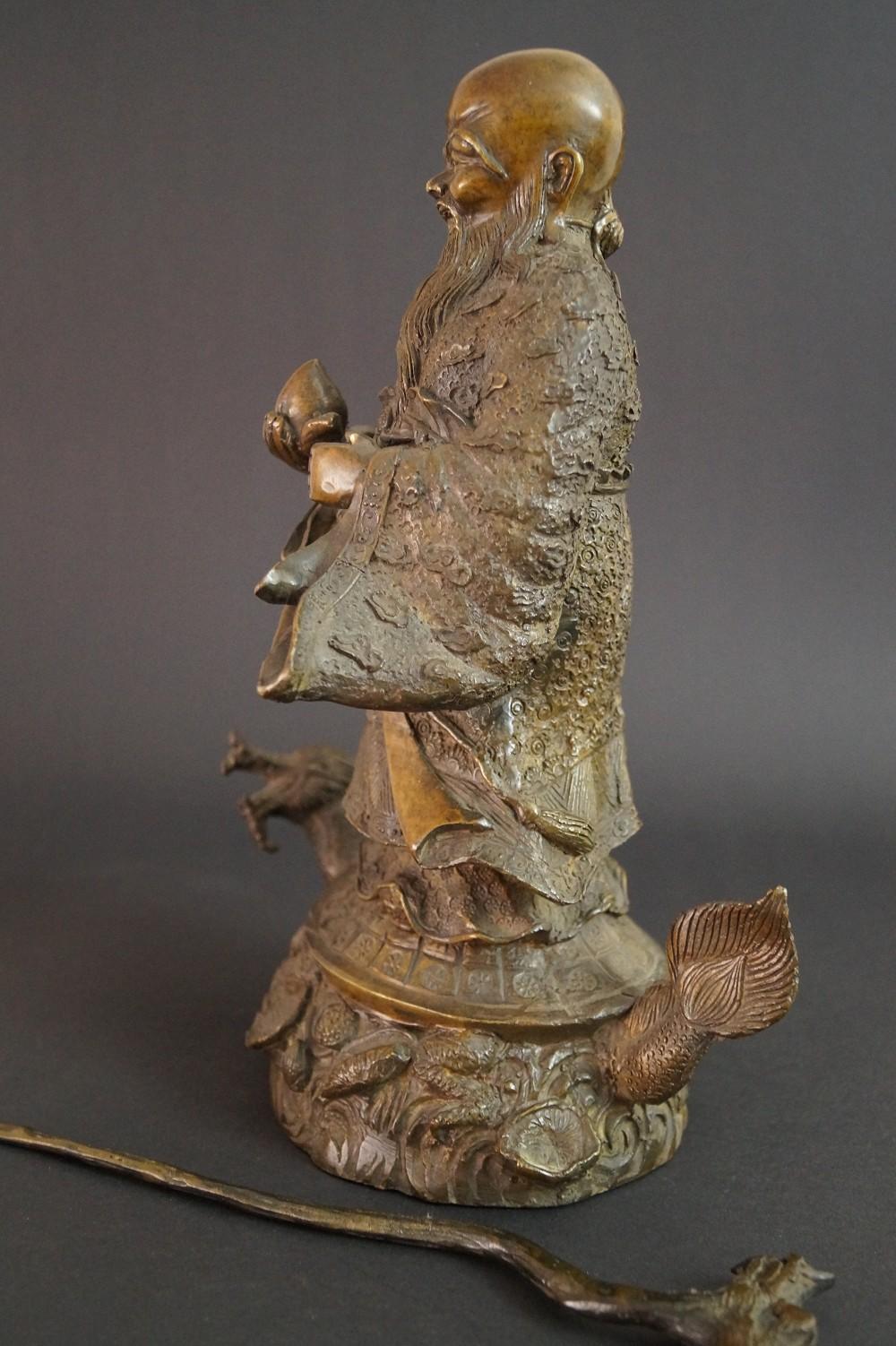 Chinesische Laotse Figur aus Bronze