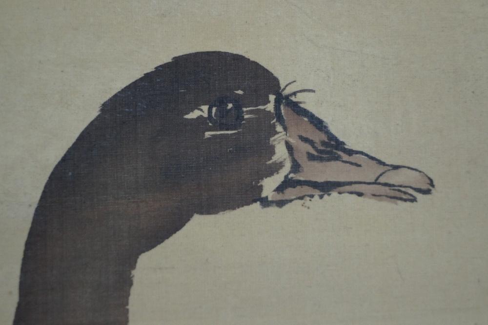Zwei Enten - Japanisches Rollgemälde (Kakejiku)