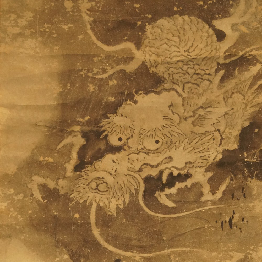 Drache - japanisches Rollgemälde (Kakejiku, Kakemono)
