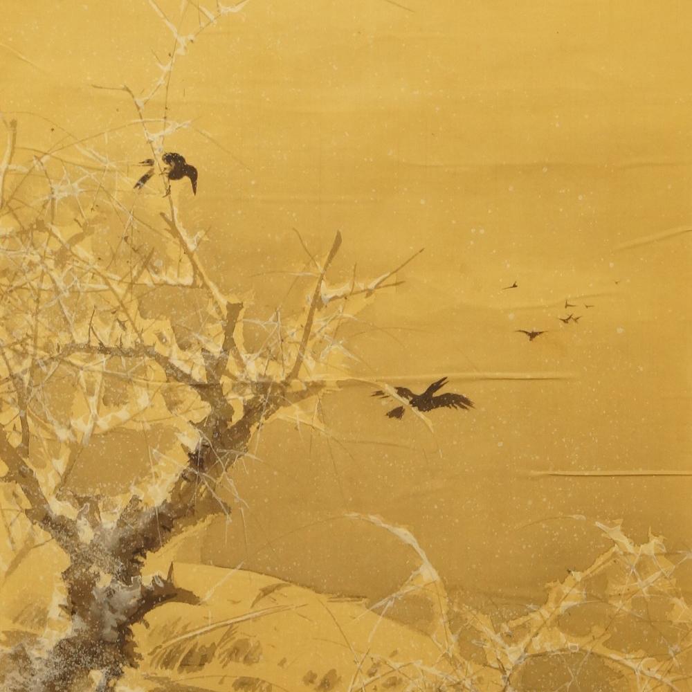 Krähen - Japanisches Rollbild (Kakejiku, Kakemono)