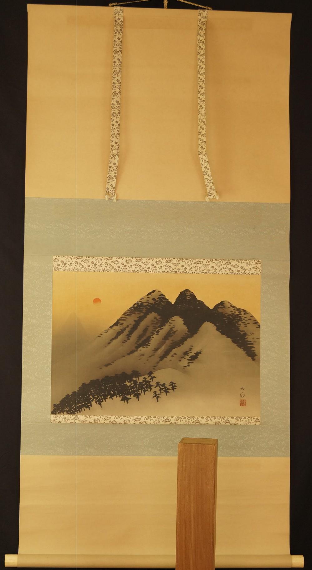 Berge - Japanisches Rollbild (Kakejiku, Kakemono)