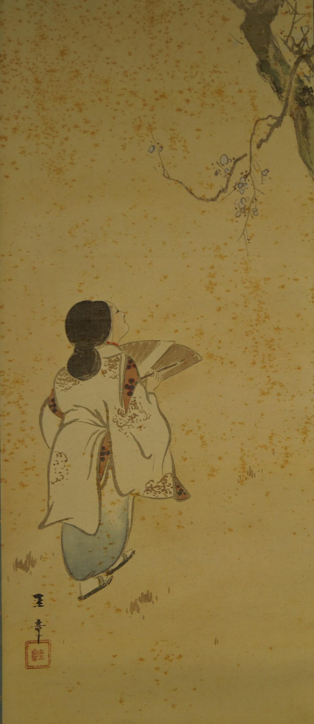 Frühling - Japanisches Rollbild (Kakejiku, Kakemono)