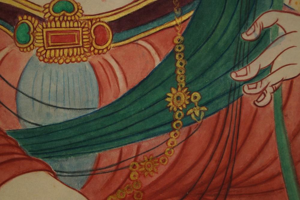 Kannon Bodhisattva - Japanisches Rollbild (Kakejiku, Kakemono)