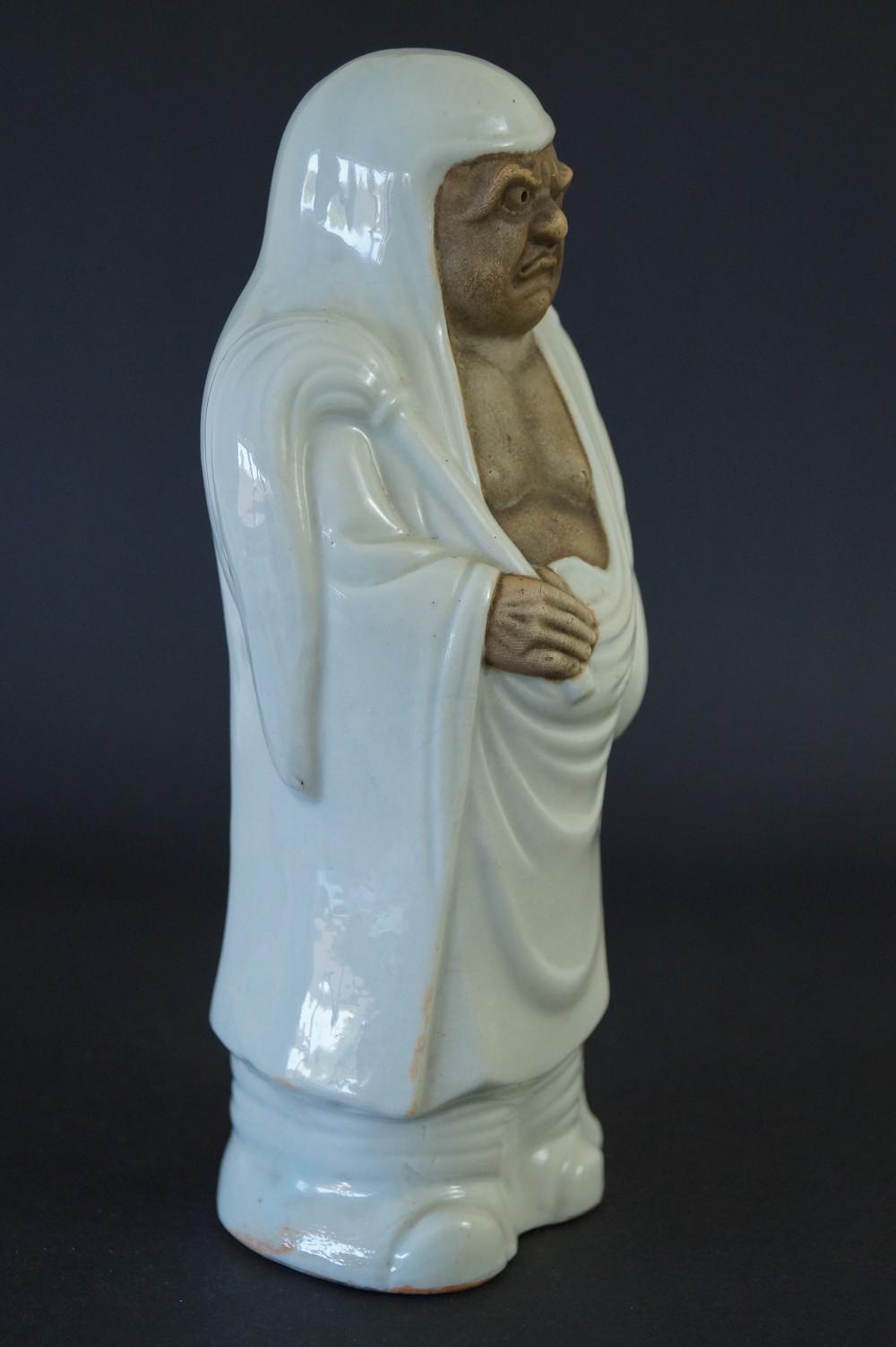 Japanische Bodhidharma (Daruma) Figur aus Kutani Porzellan