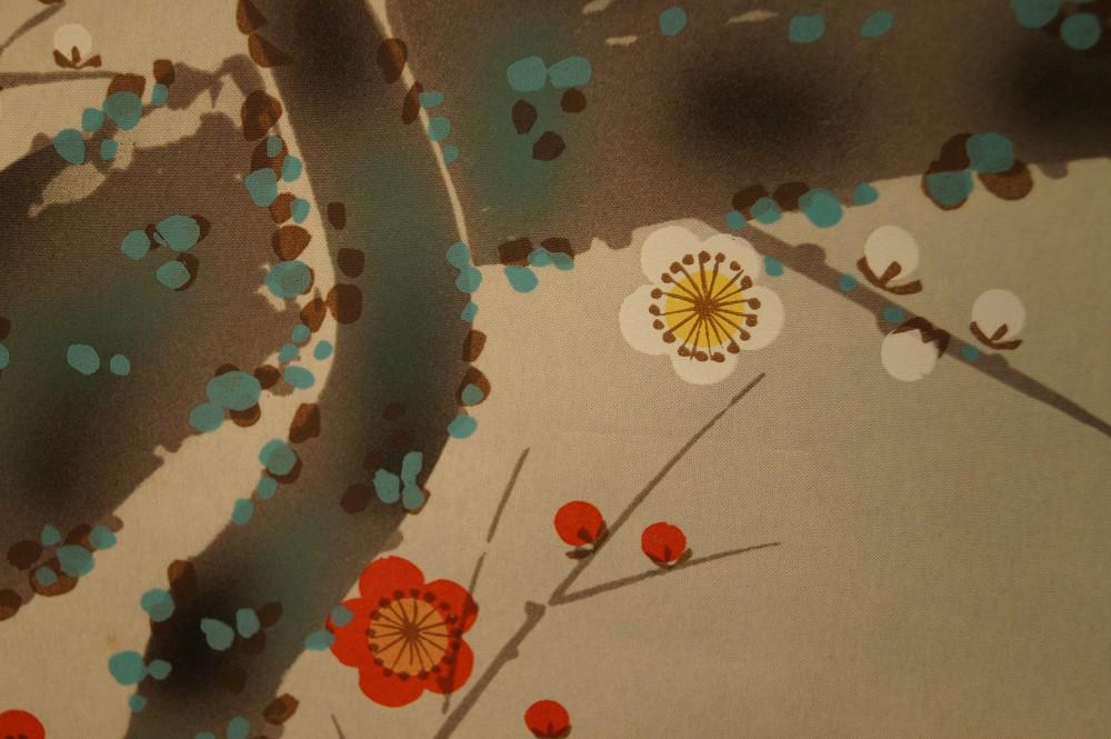 Nachtigall am Sakura Zweig - japanisches Rollgemälde (Kakejiku, Kakemono)