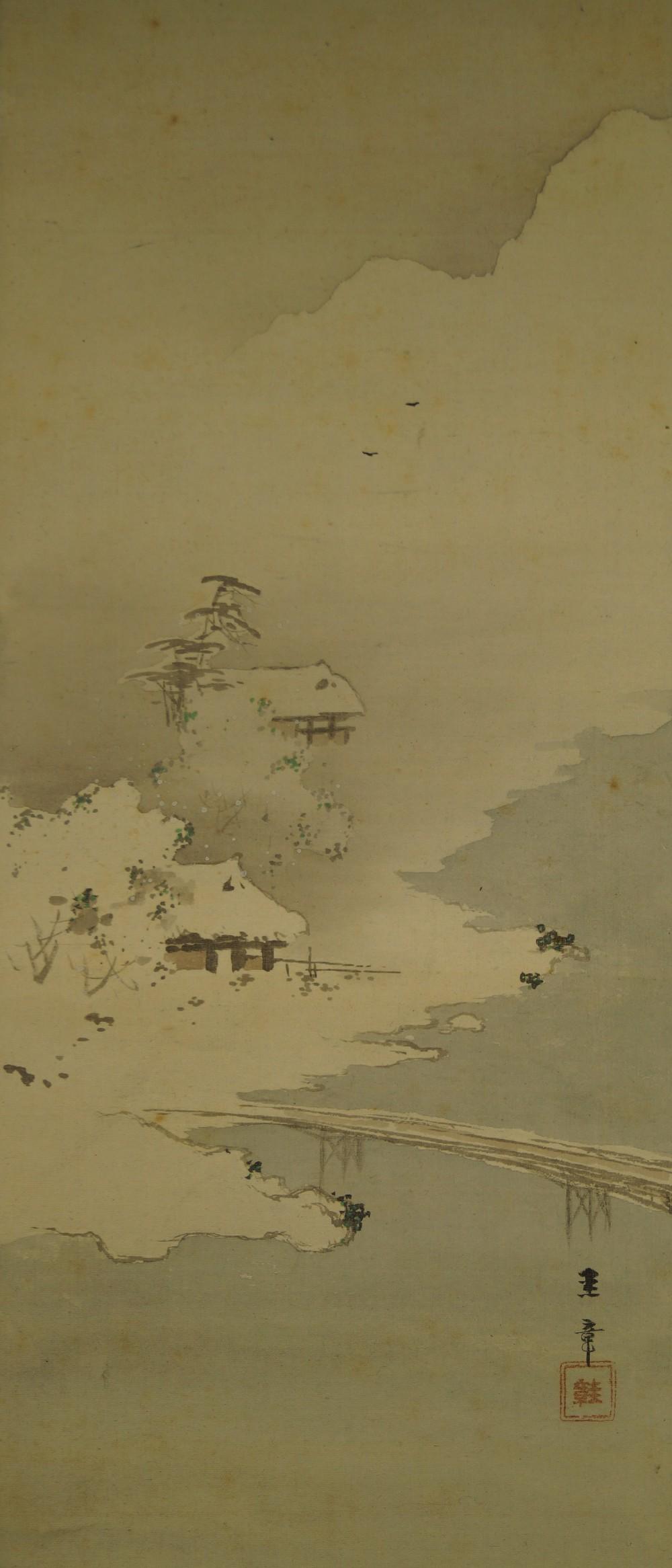 Winter - Japanisches Rollbild (Kakejiku, Kakemono)