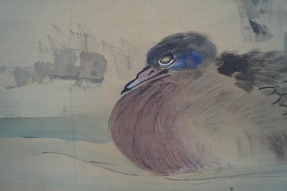 Enten - Japanisches Rollbild (Kakejiku)