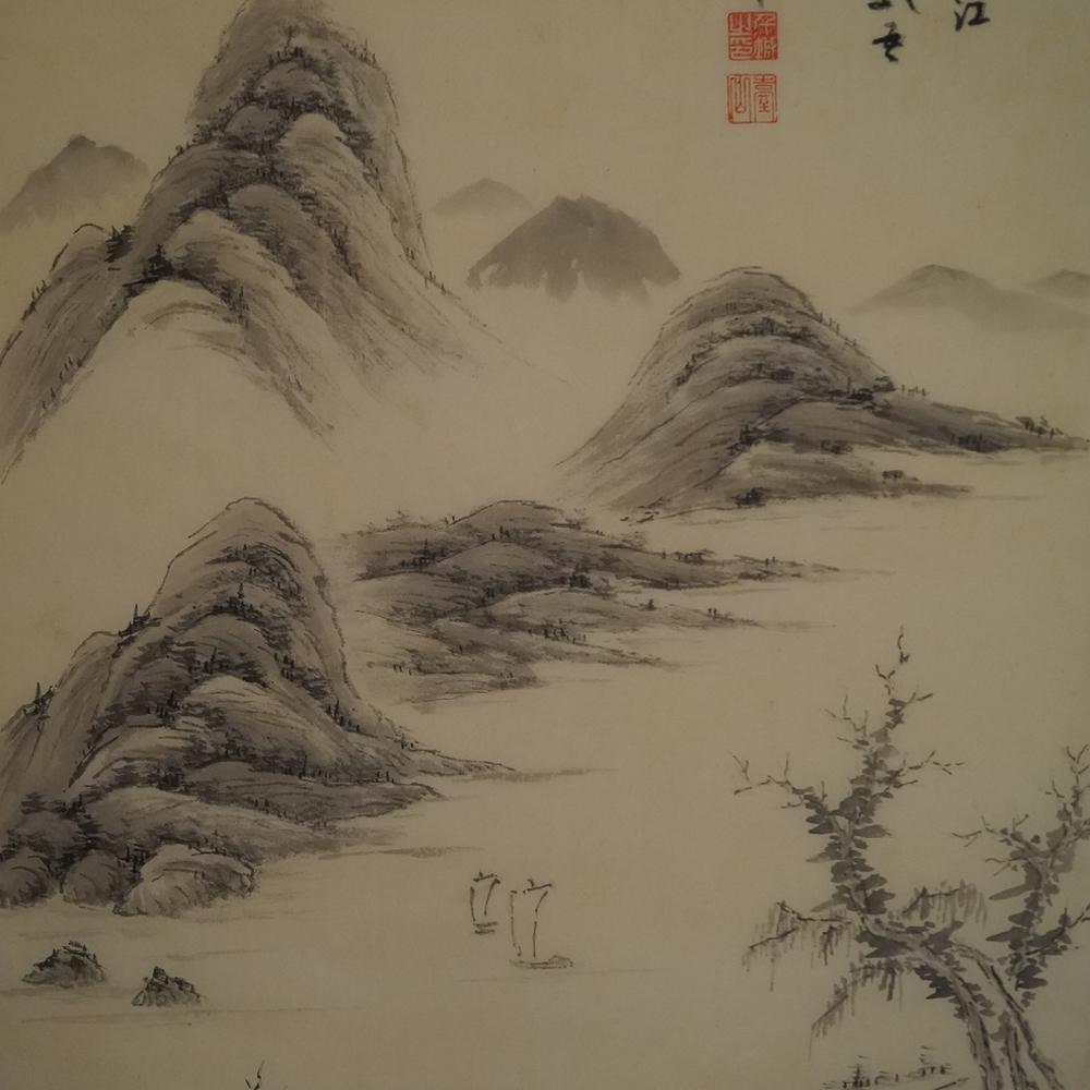 Landschaft - Japanisches Rollbild (Kakejiku)