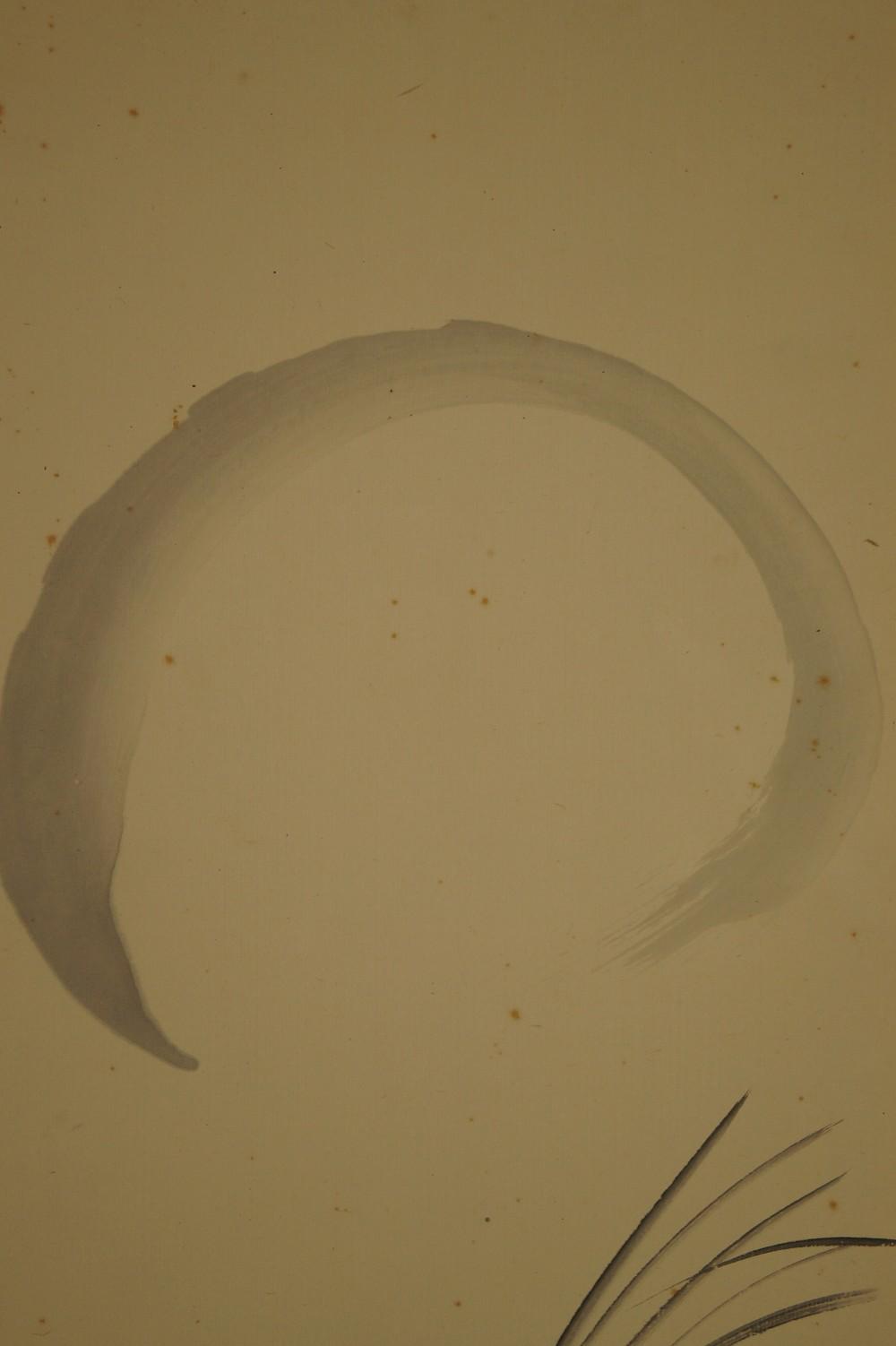 Gräser im Mondschein - japanisches Rollgemälde (Kakejiku, Kakemono)